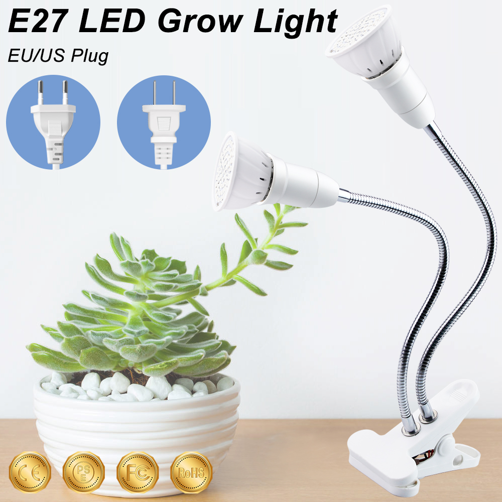 Grow Lamp Groeilampen LED Red Light Therapy Seeds Flower Full Spectrum LED Grow Lights Clip For Grow LED Growbox Seed Hydro