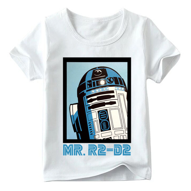 NEW STAR WARS R2-D2 ROBOT BOY GIRL COTTON L//S T-SHIRT TEE TOP 2T 4T