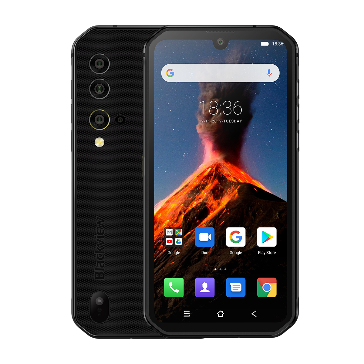 Blackview BV9900 Helio P90 Octa Core 8GB + 256GB IP68 Robuste Handy Android 9,0 48MP Quad Hinten kamera NFC Smartphone