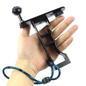 Image 5 - Adecuado para Gopro Gama Completa Dslr Cámara Cnc aleación de aluminio de una sola mano de buceo fotografía soporte de mano soporte de la cámara