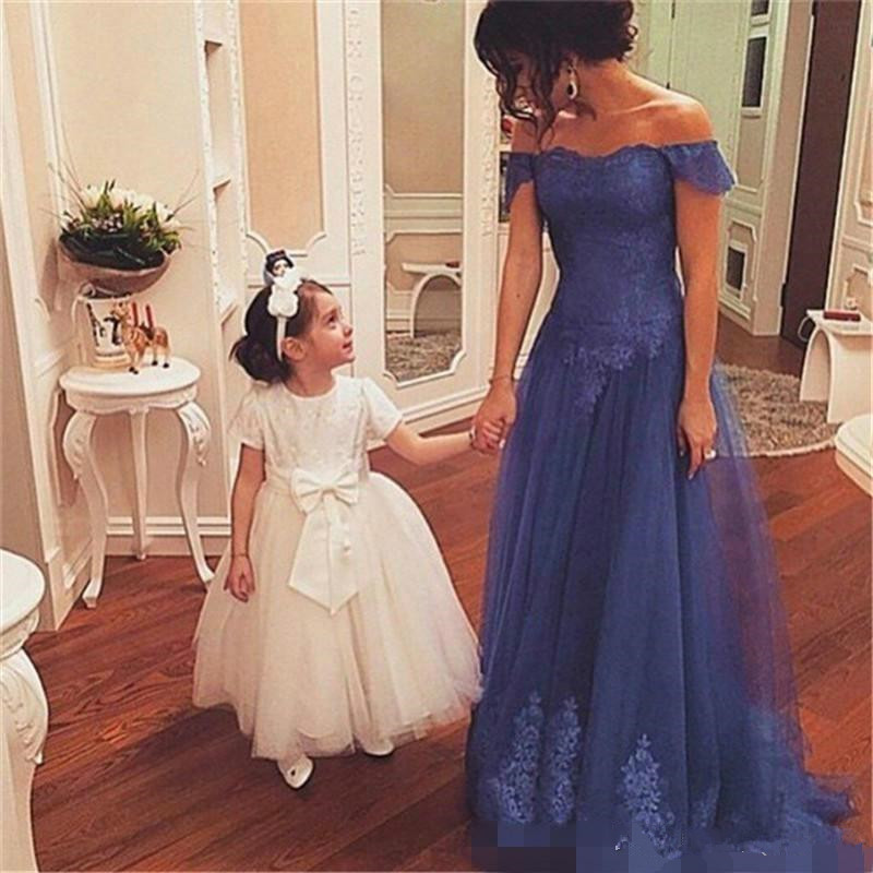Off The Shoulder Mother Of Bride Dresses Robe De Soiree Lace Appliques Special Occasion Prom Dresses 2019 Vestido De Madrinha
