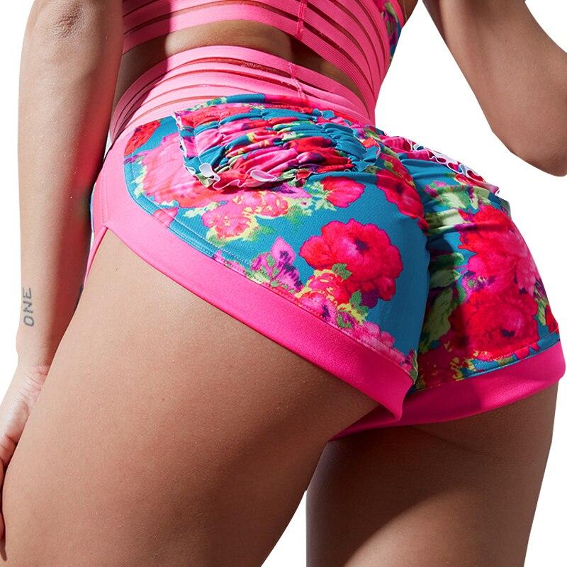 Chrleisure Women High Waist Shorts Summer Booty Print Shorts Sexy Hot Ladies Spandex Shorts Mini Lace Skinny Short