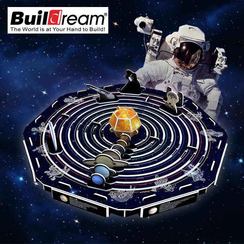 Kart modeli yapı setleri bulmaca 3D güneş sistemi uluslararası uzay istasyonu yapboz bulmacalar çocuklar için eğitici oyuncaklar yetişkin hediye