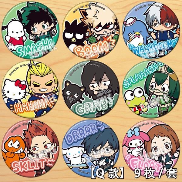 Japan Anime My Hero Academia Ashido Mina Badge Button Brooch Pins Medal Collect Cute Backpacks Badge Pendant Cosplay Costumes
