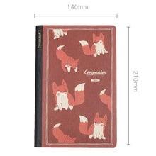 Hallo Fuchs Licht Grid Notebook 64P Kreative A5 Tragbare Papier Buch Geschenk 135*210mm Freies Verschiffen
