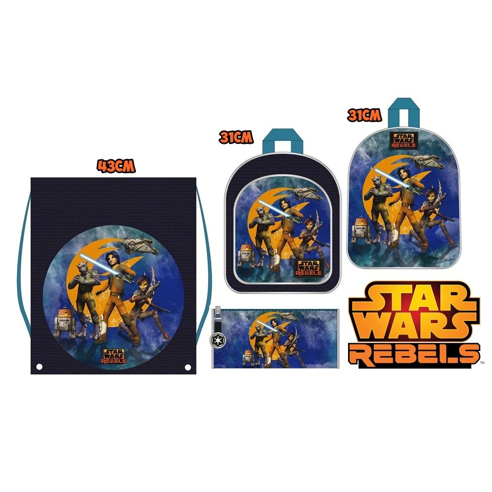 Lot Star Wars 2 Backpacks, Sack And Pencil Pouch