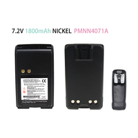 Rechargeable Battery for Motorola PMNN4071AR Mag One BPR40 A8 Walkie Talkie with Belt Clip NICKEL1800mAh 7.2V