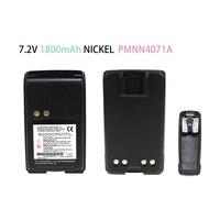 מכשיר הקשר סוללה נטענת עבור מוטורולה PMNN4071AR Mag אחת BPR40 A8 מכשיר הקשר עם חגורה קליפ NICKEL1800mAh 7.2V (1)