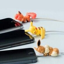 Мини симпатичные Мяут мультфильм Иви укус животного укус игрушки кабель данных зарядное устройство провод для намотки кабеля укусов протектор для iPhone Андроид игрушка