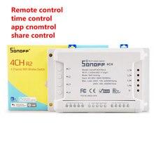 Sonoff 4CH R2 interruptor inalámbrico multicanal WIFI Control remoto independiente casa inteligente casa automatización módulo controlador 220V