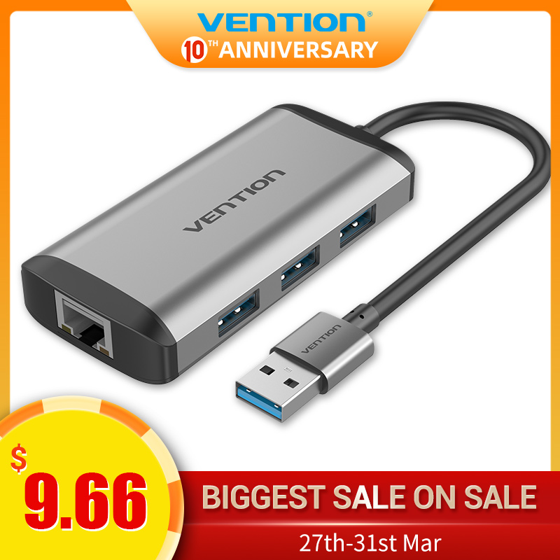 Vention USB 3.0 Hub High Speed USB3.0 To RJ45 Ethernet Adapter USB Splitter 1000Mbps Network Card For Macbook Laptop PC Tablet