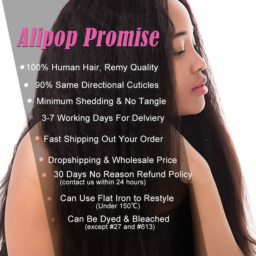 Kinky Straight Hair With Closure Peruvian Human Hair 3 Bundles With Closure Alipop Remy Hair Closure With Bundles 10-28Inch 4Pcs (2)