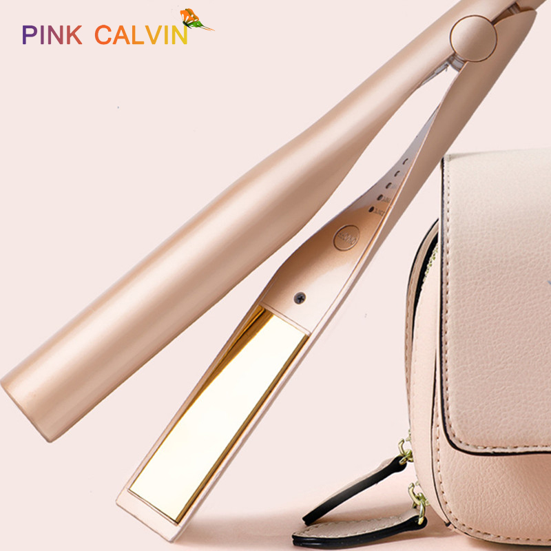 Hair Curling Iron Straightening Machine Hair Styler Curling Hair Iron Magic Styling Tools Flat Iron Gold Color