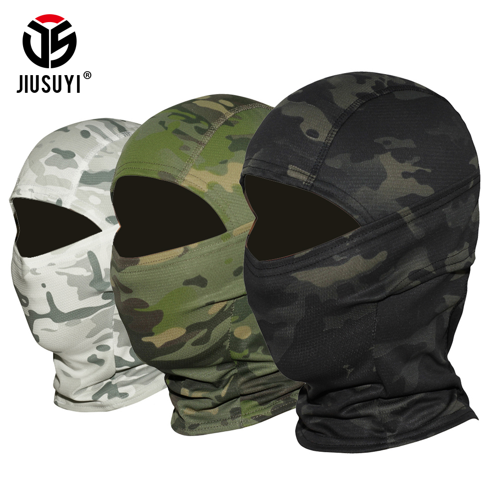 18 Color Tight Multicam CP Balaclava Camouflage Tactical Airsoft Paintball Bicycle Army Military Helmet Liner Full Face Mask
