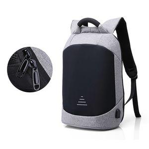 Image 5 - Homem impermeável anti roubo mochilas portátil modernista olhar resistente à água com porta de carregamento usb 15.6 notebook viagem mochila
