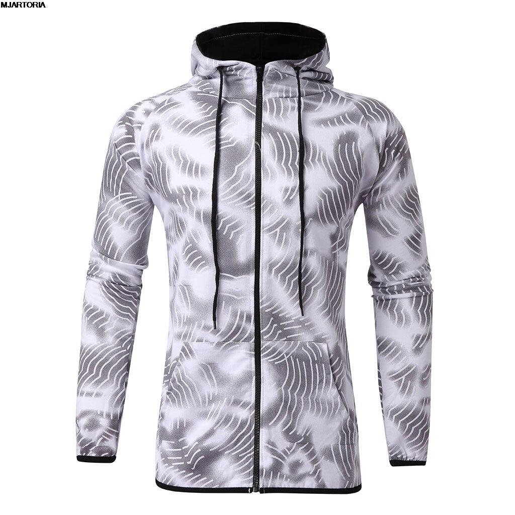 Sports Suit Hoodies Sweatshirt Zipper Hippop Autumn Men's New-Fashion Print MJARTORIA