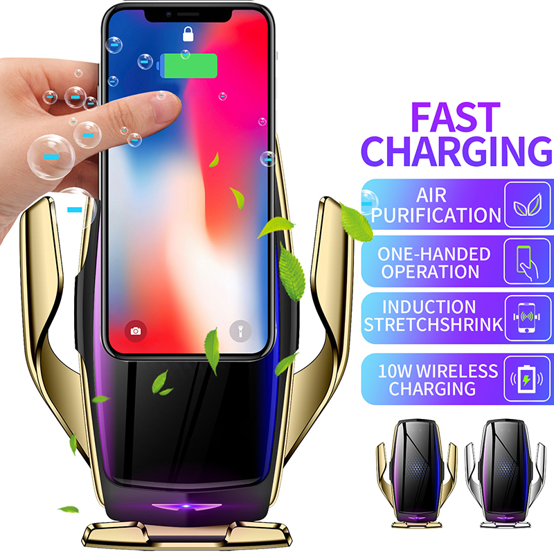 Phone Holder Car Wireless Charger Fast Charging Wireless Car Charger for Mobile Phone Bracket Support Wireless Charge