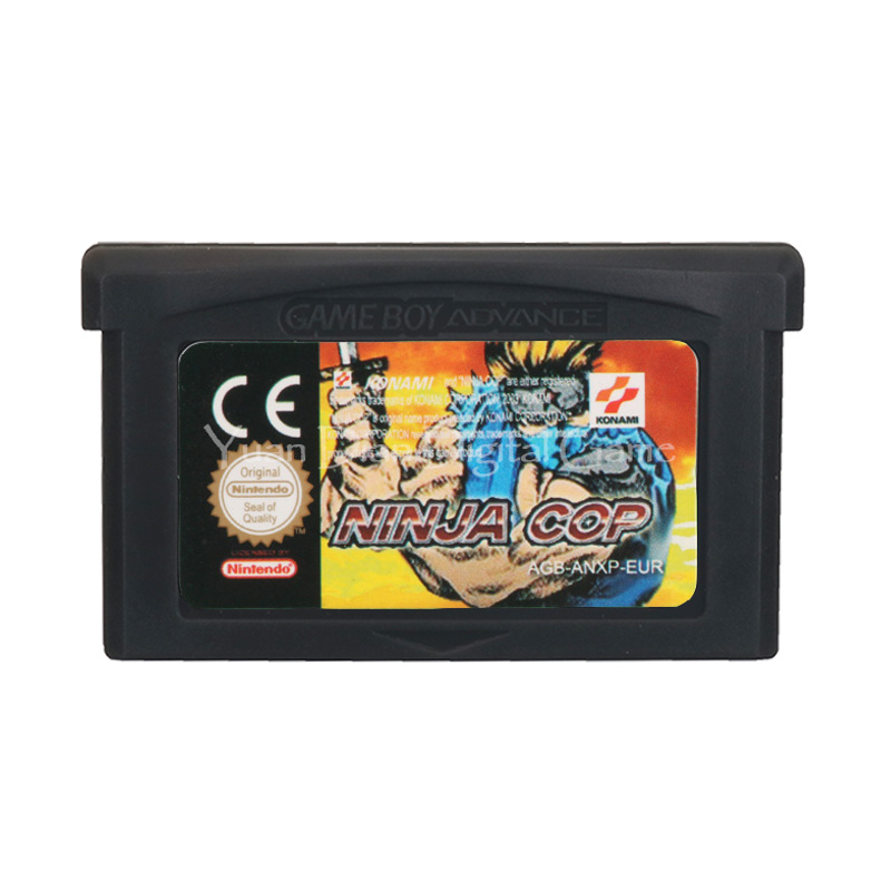 For Nintendo GBA Video Game Cartridge Console Card Ninja Cop English Language EU Version