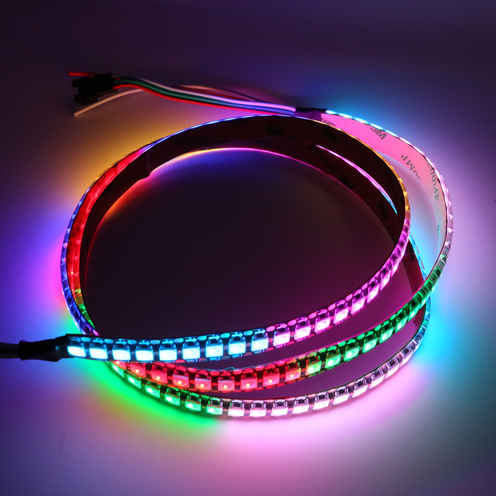 WS2812B LED Pixel Strip Light DC5V 1m/5m Built-in  2812 IC Individually Addressable RGB LED Strip 5050 30/60/144 Leds/m