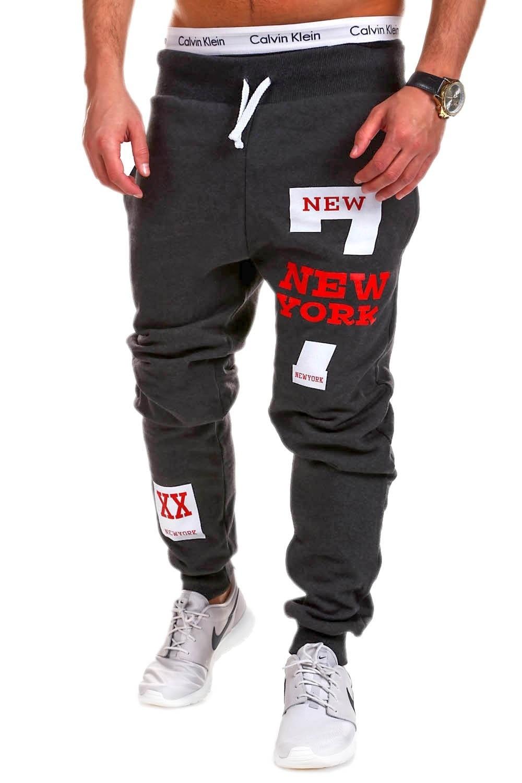 Hot Selling Fitness Pants New York Lettered Hip Hop Printed Design MEN'S Casual Pants Athletic Pants Men's