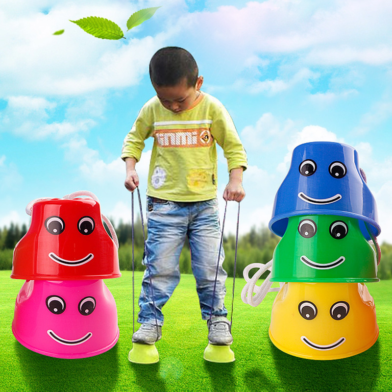 1 Pc Jumping Stilts Walker Fashion Walk Stilt Jump Outdoor Fun Training Toys for Kids Children Stem Toy