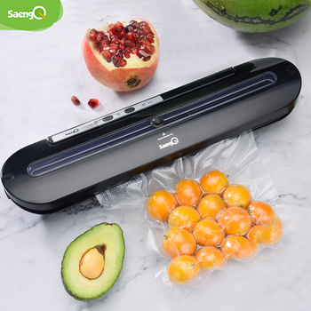 saengQ Best Vacuum Food Sealer 220V/110V Automatic Commercial Household Food Vacuum Sealer Packaging Machine Include 10Pcs Bags 1