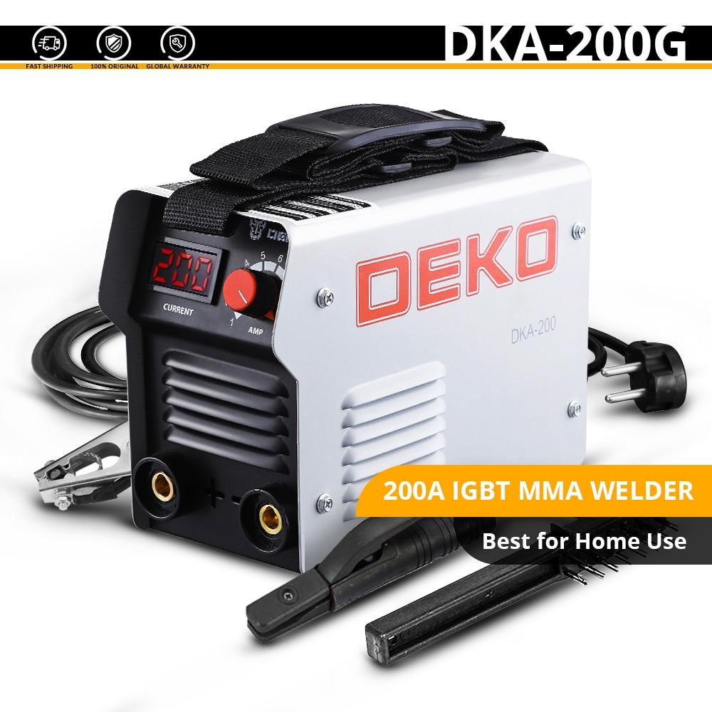 DEKO DKA-200Y 200A 4.1KVA инвертор дуговой Электрический сварочный аппарат 220V MMA сварочный аппарат для DIY сварочных работ и электрических работ - Цвет: DKA-200G