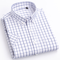 Standard-Fit Short Sleeve Plaid Checked Shirts 1