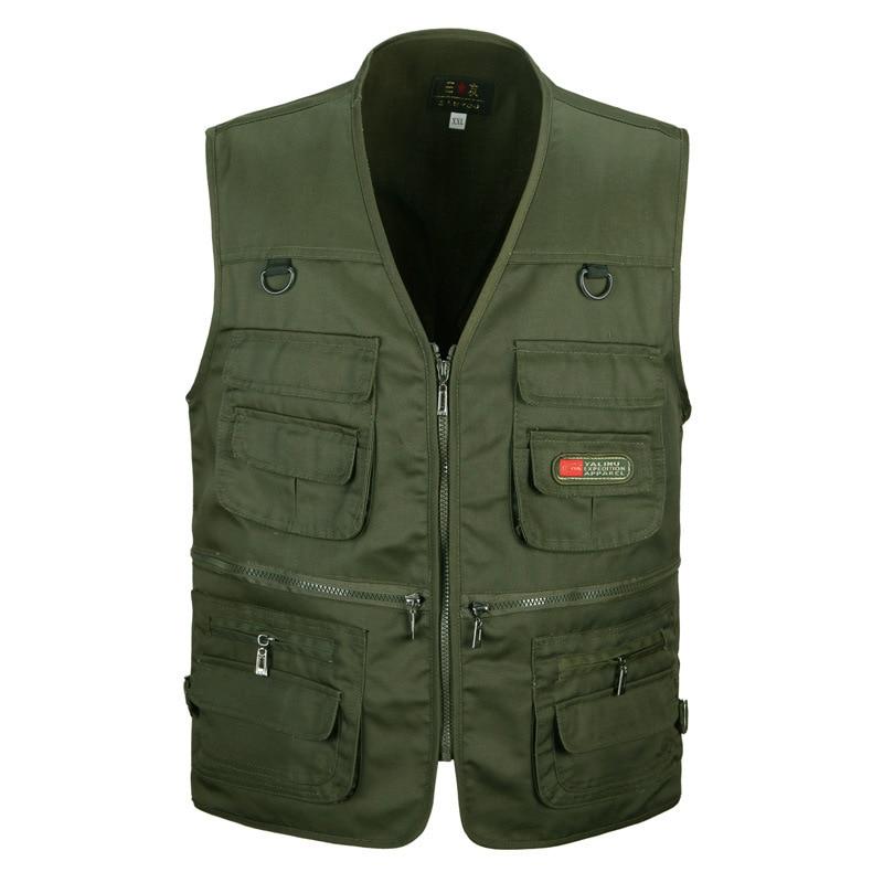 Summer Multi Pocket Vest For Men Spring Autumn Male Casual Photographer Travel Sleeveless Jacket Tool Waistcoat With Many Pocket