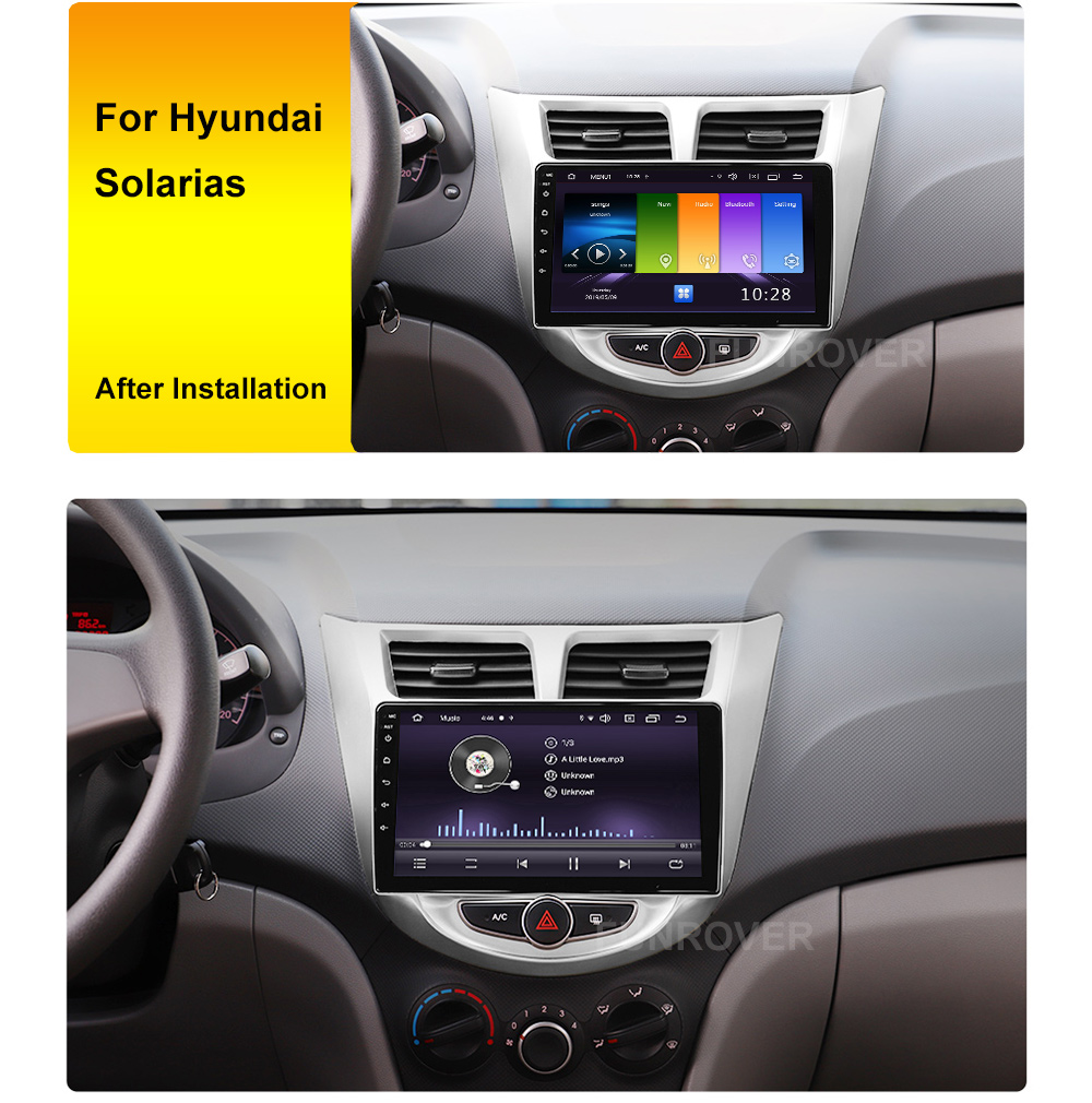 Clearance Funrover 2.5D+IPS android 9.0 Car Radio Multimedia Player dvd GPS Navigation For Hyundai Solaris Verna Accent i25 2010-2016 RDS 0