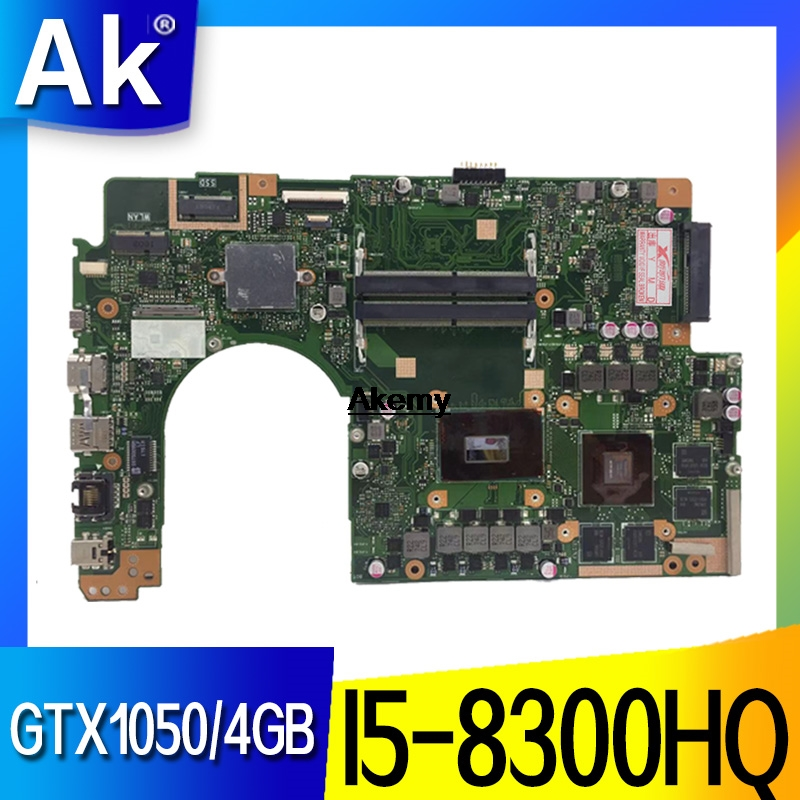 For ASUS VivoBook Pro 15 N580G N580GD NX580G NX580GD Laptop Motherboard Mianboard With/ GTX1050/4GB I5-8300HQ