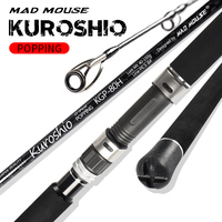 MADMOUSE Kuroshio FUJI Parts Carbon Fiber Spinning Fishing Popping Rod with 2.64m 2.4m PE 3-10 80H/88XH Ocean Rod For GT Fishing