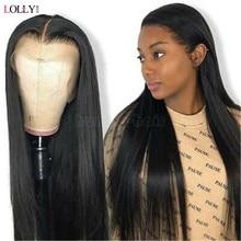 Perruque Lace Front Wig brésilienne naturelle, cheveux lisses, 30 pouces, pour femmes africaines
