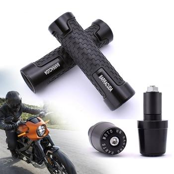 """Barracuda motocykl 7/8 """"gumowe uchwyty na kierownicę Bar kończy czapki dla Suzuki GSF600 Bandit GS1000 GS500 GSX1100F Katana"""