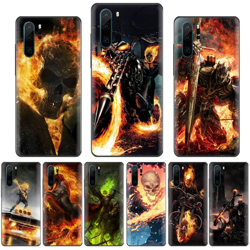 <font><b>Ghost</b></font> Rider Ghostface Skull <font><b>the</b></font> film Cover <font><b>Shell</b></font> Phone <font><b>Case</b></font> Funda For Huawei P9 P10 P20 P30 Lite 2016 2017 2019 plus pro P smart image