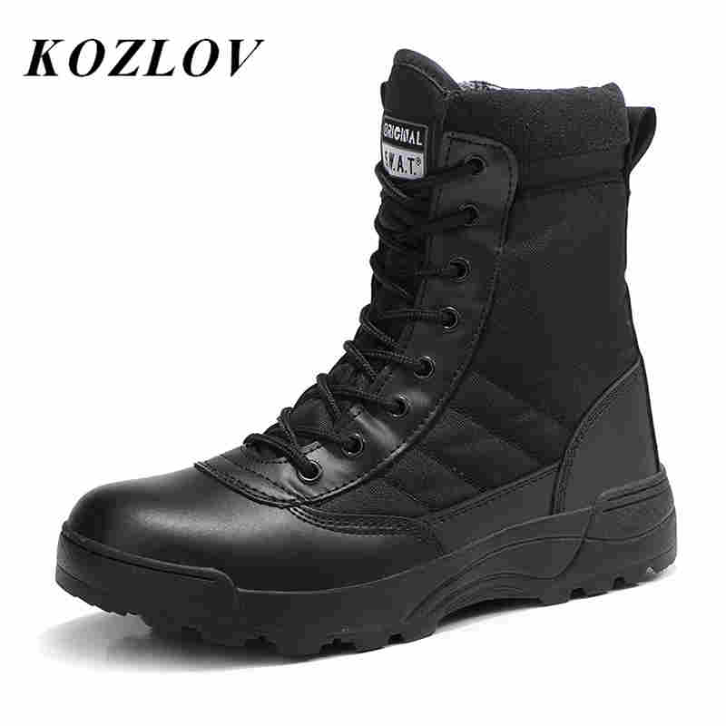 Contemplative Military Boots Outdoor Male Hiking Boots Men Special Force Desert Tactical Combat Ankle Hunting Boots Men Work Boots Black Botas