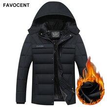 FAVOCENT Winter Jacke Männer Verdicken Warme Männer Parkas Mit Kapuze Mantel Fleece Mann der Jacken Outwear Winddicht Parka Jaqueta Masculina