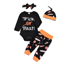 2019 autumn and winter newborn baby boy clothes suit  Thanksgiving clothing jumpsuit + pants hat