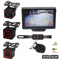 Car Reversing Camera LED Infrared night vision Back Rear View Camera automatic parking monitor CCD video Backup camera Wifi Wireless