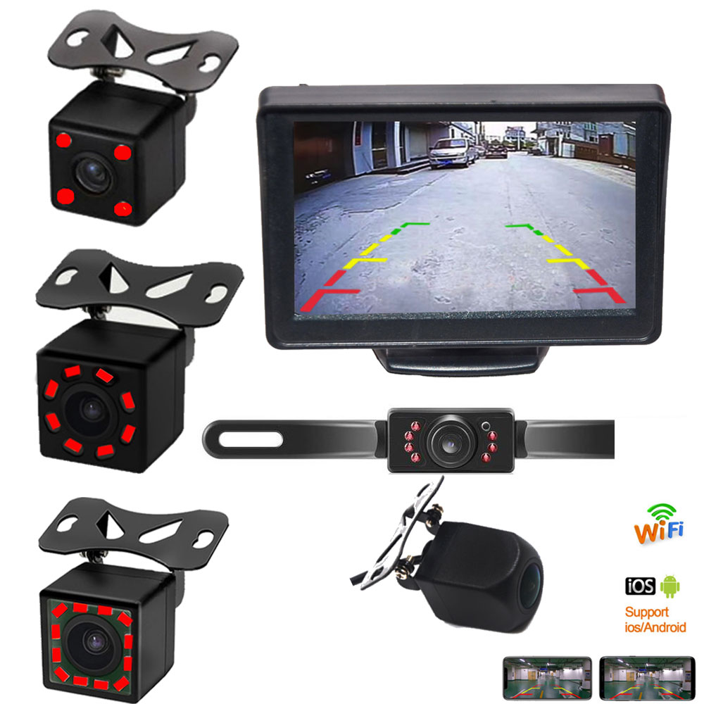 Reversing Camera Infrared Night Vision Back Rear View Camera Automatic Parking Monitor CCD Video Backup Camera Wifi Wireless