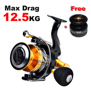 New High Quality Double Spool 14+1 BB Fishing Reel Stainless Steel Ball Bearing Fishing Feeder Spinning Reel For Carp Fishing(China)