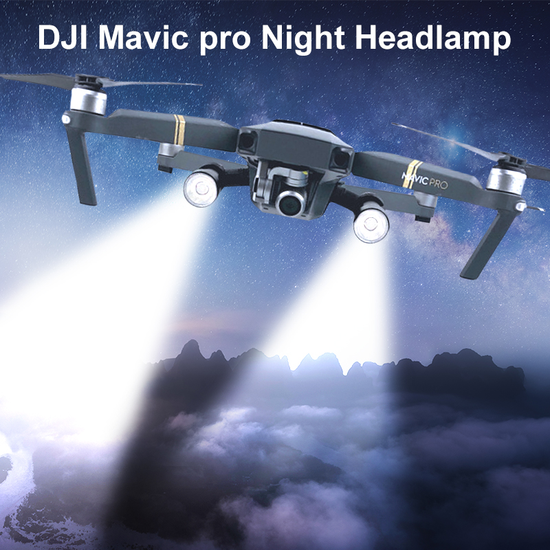 Night Lamp For DJI Mavic Pro Flash LED Filght Light Lamp Kit For DJI Mavic Pro Night Flight Searching Lighting Drone Accessories