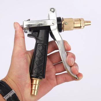 Miedź pistolet na wodę pod wysokim ciśnieniem ciała myjnia pistolet na wodę Pagoda pistolet na wodę regulowany wąż miedziany pistolet z dyszą myjnia narzędzia tanie i dobre opinie CN (pochodzenie) dysze As shown Zmienna kontroli przepływu Metal Mosiądz High pressure water gun Pure copper + plastic