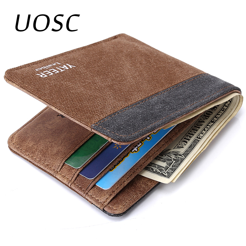 UOSC Wallet Purses Men's Wallets Carteira Masculine Billeteras Porte Monnaie Monederos Famous Brand Male Men Wallet 2019 New