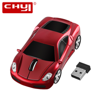Chyi wireless mouse ergonomic 24ghz 1600 dpi scuderia coupe