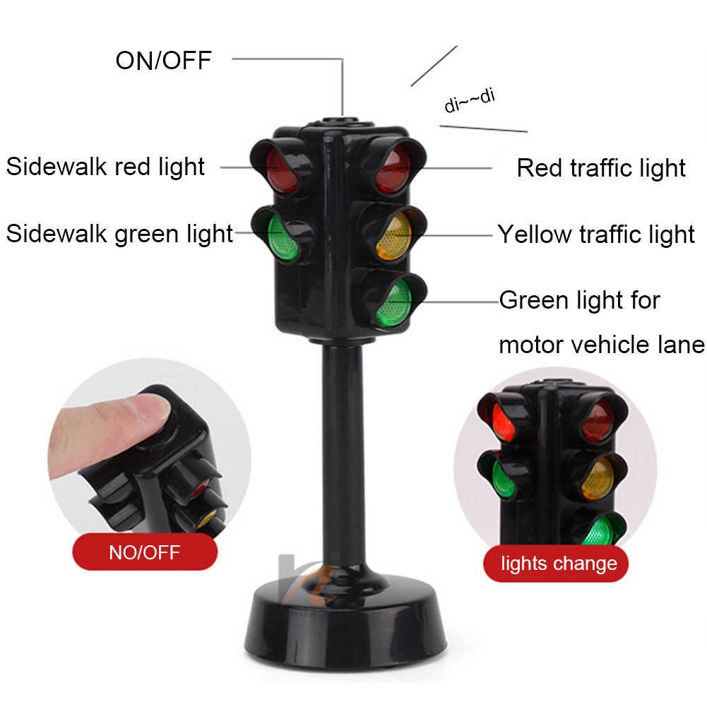 حركة المرور المصغرة علامات ضوئية نموذج كاميرا السرعة مع الموسيقى LED التعليم لعبة أطفال هدية مثالية لحفلات أعياد الميلاد