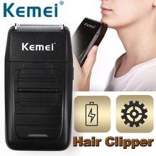 Kemei Professional Hair Clipper Wiederaufladbare Elektrische Cordless Leistungsstarke Bart Gesichts Trimmer Haar Cutter Schneiden Maschine Erwachsene