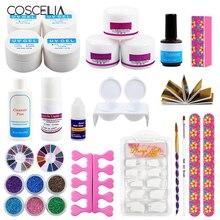 COSCELIA Nail Acrylic Powder UV Gel Nail Burshes Set For Nails Art Manicure Tools Kit Nail Glitter Powder Kit цена