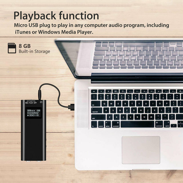 8GB Recording Sound Audio Activated Device for University Office 3