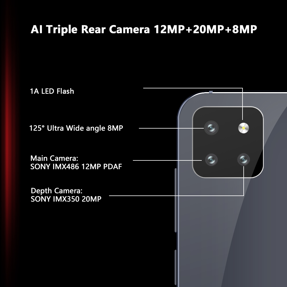 """Image 4 - Cubot X20 Pro Smartphone 6.3"""" FHD+Waterdrop Screen 6GB+128GB Android 9.0 AI Mode Triple Camera Face ID Cellura Helio P60 4000mAh-in Cellphones from Cellphones & Telecommunications"""